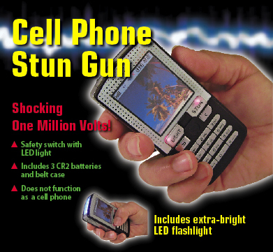 cell phone stun gun flashlight